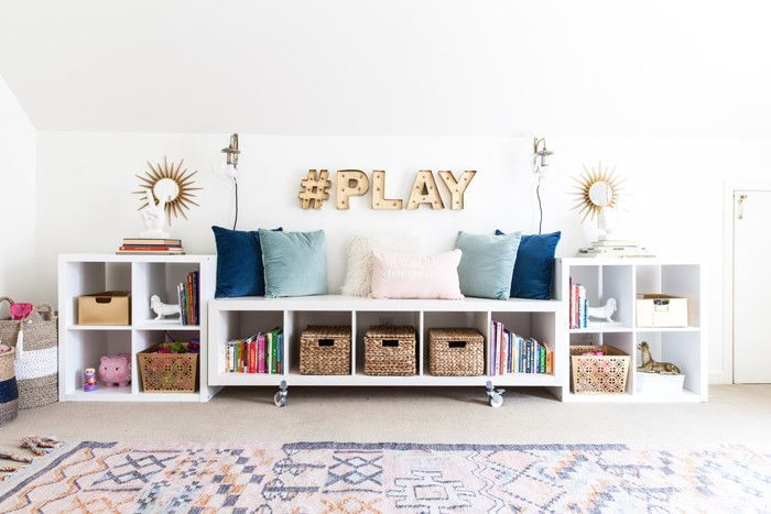 Chic Home Office And Playroom Combination Bsht Style Your Senses Storage Kids Room Ikea Toy Storage Stylish Toy Storage