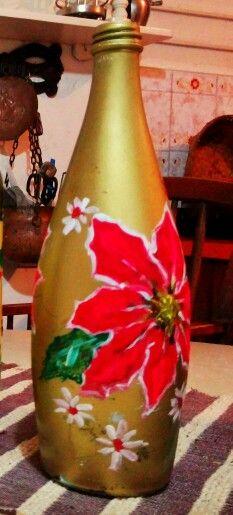 Botellas Navidenas Pintadas