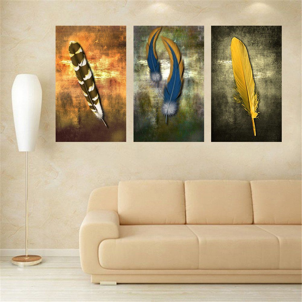 Wall Art For Living Room Oil Paintings On Canvas Feather White Modern Abstract Oil Painting