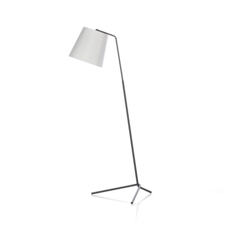 Angle Pewter Floor Lamp - Crate and Barrel   Floor lamp, Pewter and ...