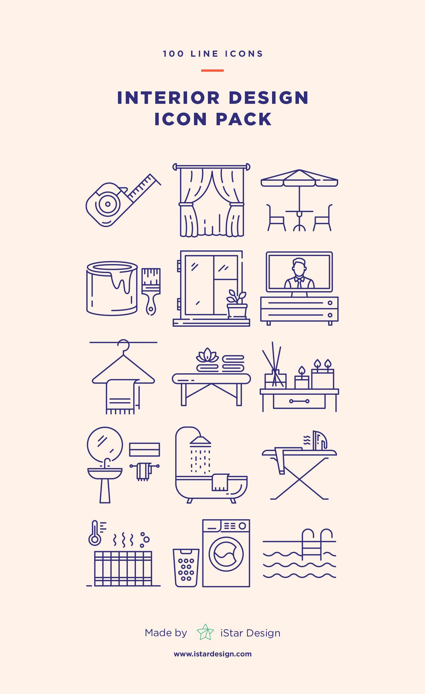 Interior Design Icons Set Icon Set Line Icon