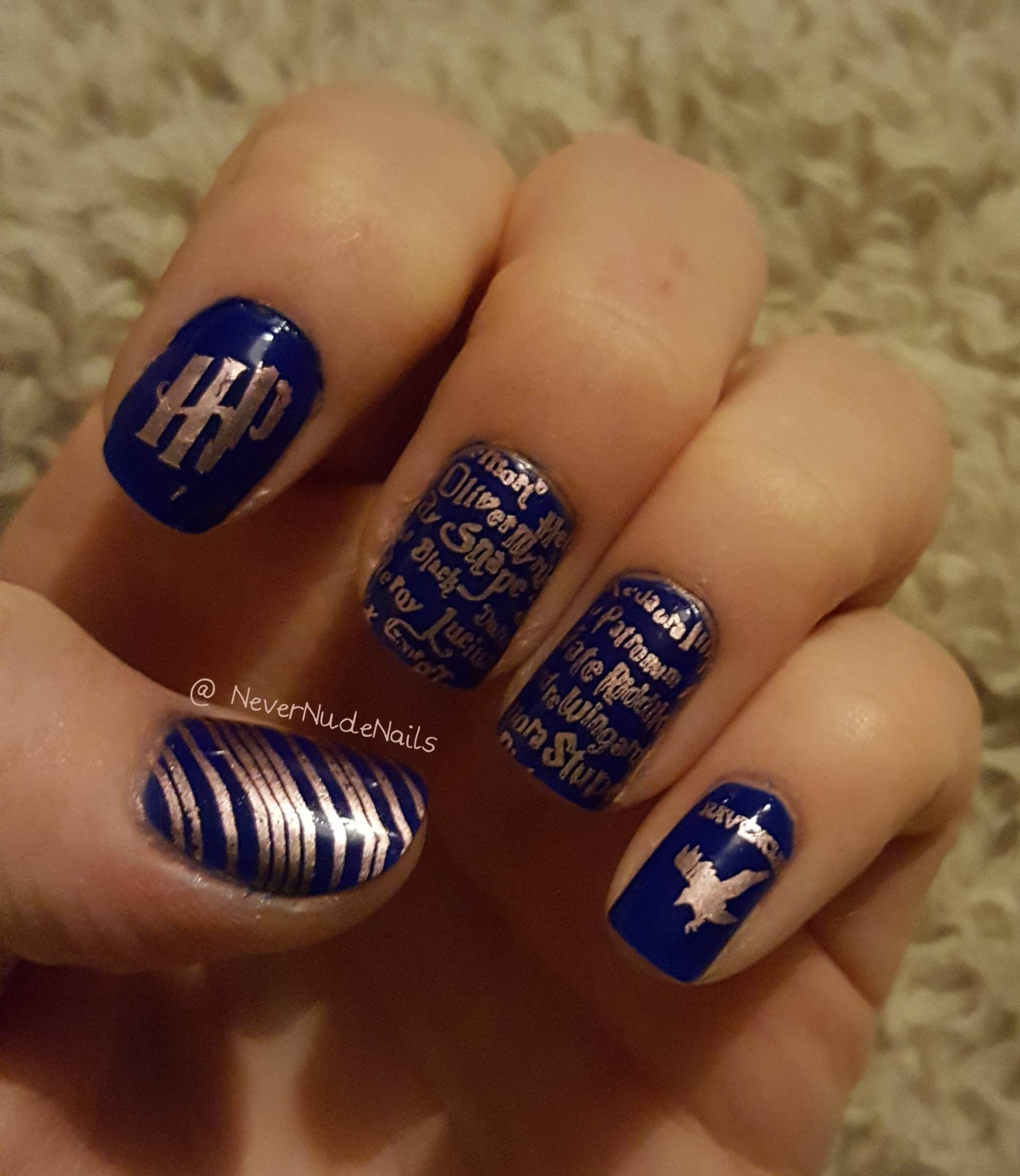 Dahlia Nails Ravenclaw Nail Art: Representing With My Ravenclaws! I 2019