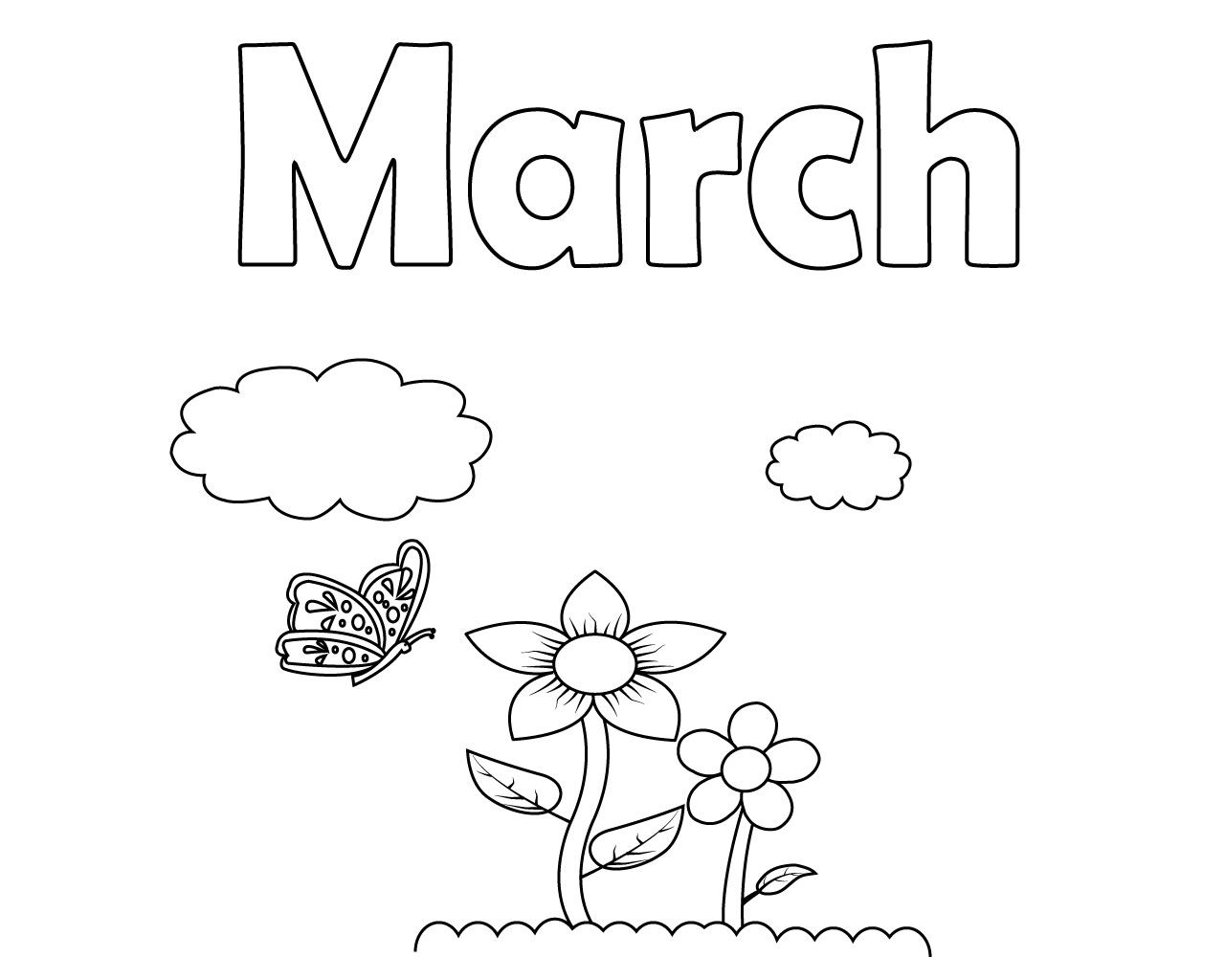 March Coloring Pages for Toddlers Toddler coloring book