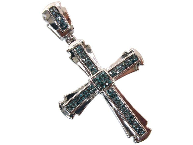 925 sterling silver blue diamond 041 cwt mens hip hop religious 925 sterling silver blue diamond 041 cwt mens hip hop religious cross pendant for 289 mozeypictures Choice Image