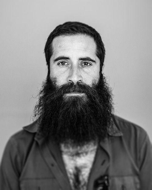 JP Harris - Brooklyn   BW   Beard tattoo, Hipster beard
