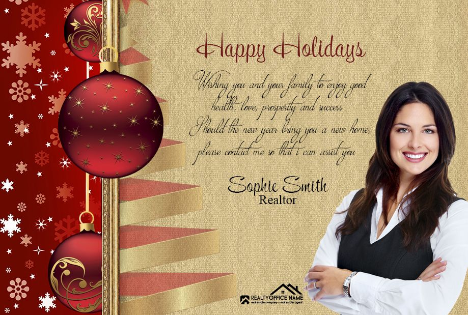 Real Estate Holiday Postcard RSD-PC-201 in 2018 | My Real Estate ...
