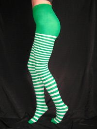 Striped Tights - A beautiful array of shades in this line!  With solid toes and panty and lots of little stripes in between, these are a favorite for costumes, layering with   openwork styles  or just adding a little extra zing to your look.