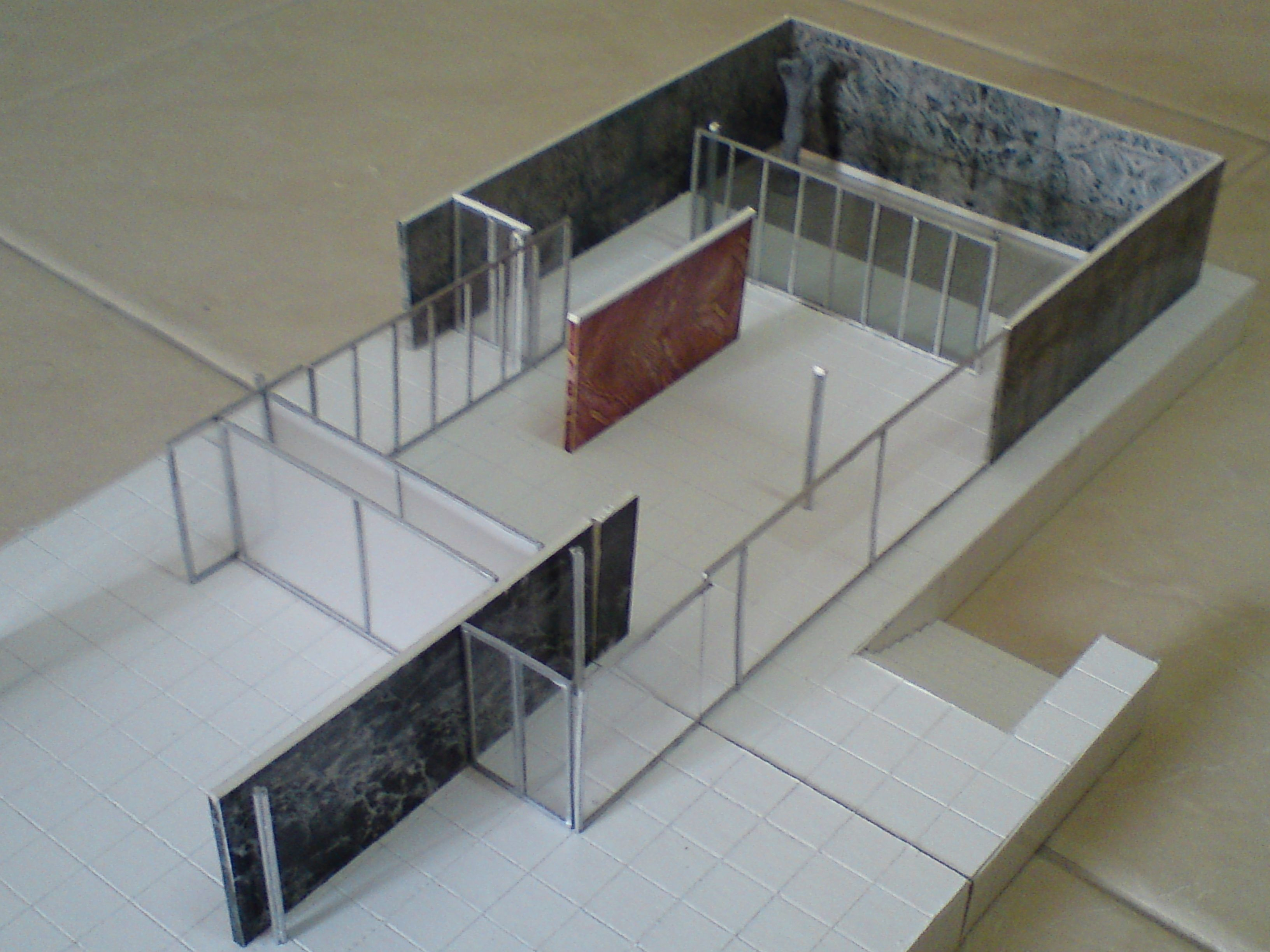 Barcelona Pavilion model | TownHaus 2015 | Pinterest ...