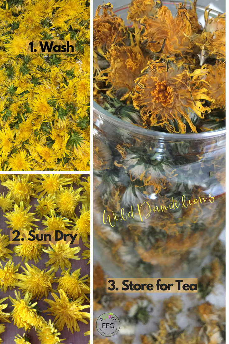 How To Make Detox Tea With Dandelion Flowers Verawonica The Foodie Food Girl Dandelion Flower Detox Tea Dandelion