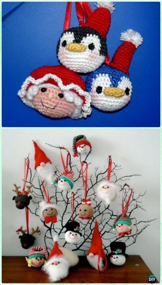 Crochet Christmas Ornament Collection Free Patterns  - #Crochet Christmas #Ornament Free Patterns