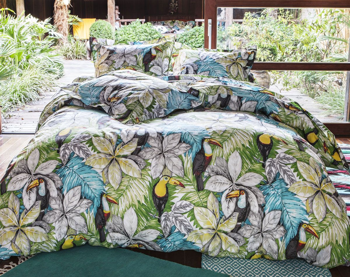 linge de lit tropical housses de couette tropicales. Black Bedroom Furniture Sets. Home Design Ideas