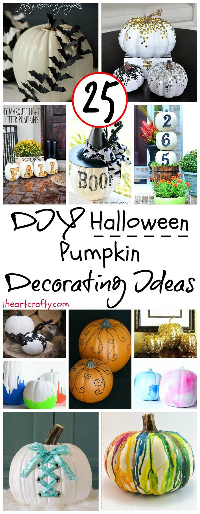 20 Easy DIY Halloween Pumpkin Decorating Ideas