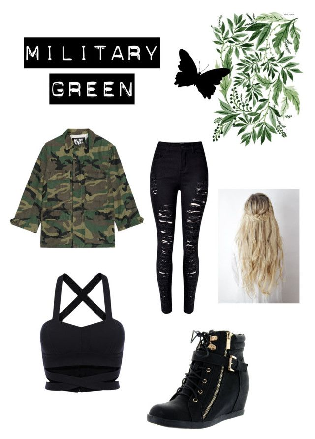 """""""Military fashion"""" by elissacatt ❤ liked on Polyvore featuring WithChic, NLST and Top Moda"""