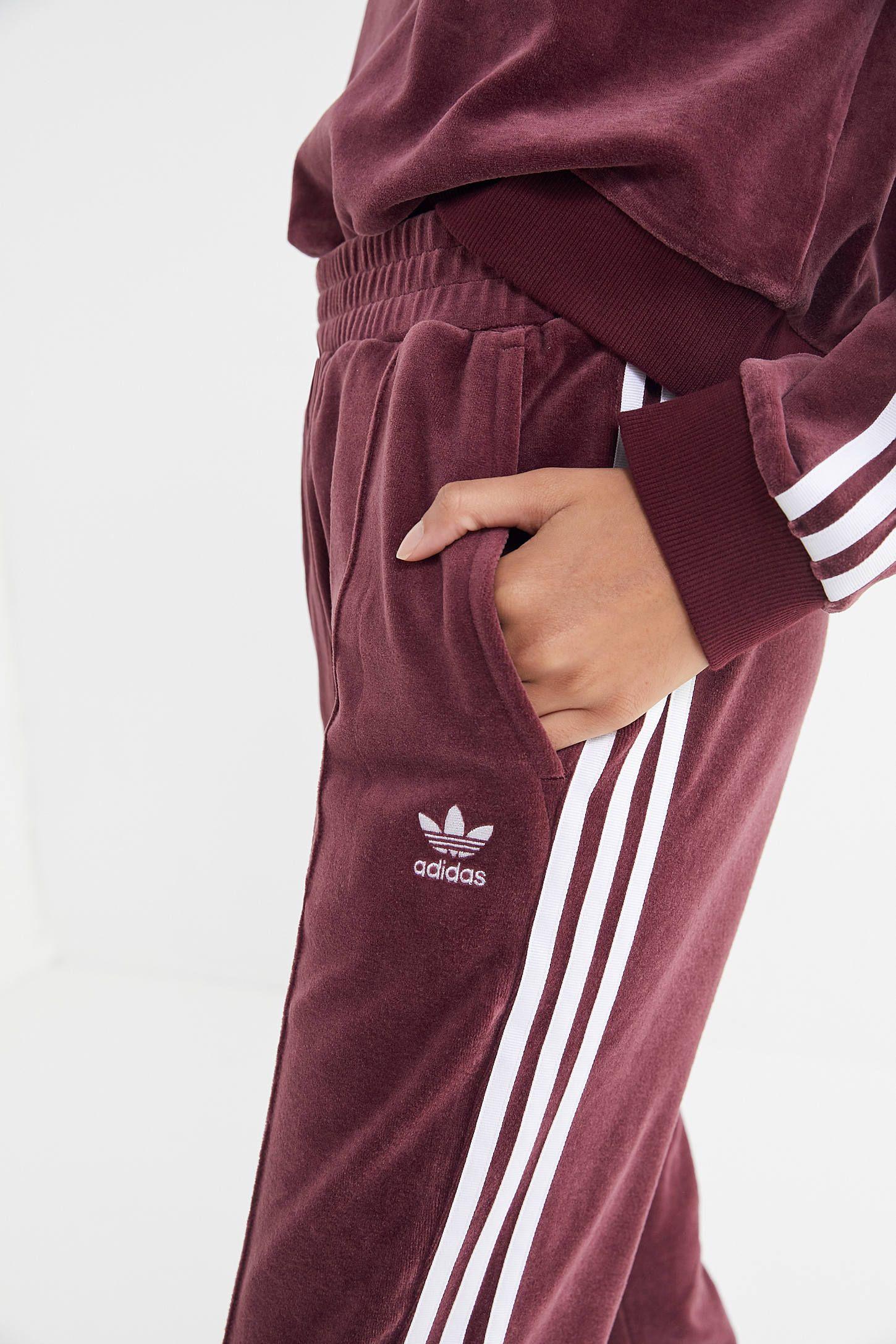 adidas Velvet 3 Stripes Track Pant | Best clothing brands