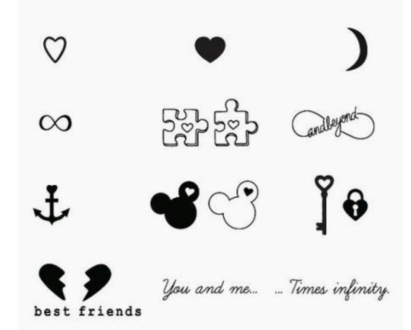 Best Friend Tattoos Tatuajes Mickey Tatuaje Tatuaje Novios Y