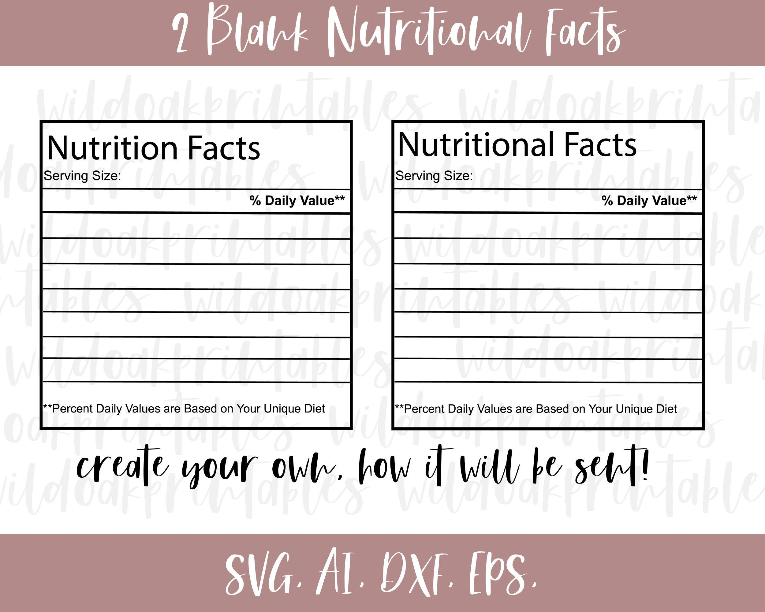 2 Blank Nutrition Facts Svg Nutrition Facts Label Svg Funny Etsy Nutrition Facts Label Nutrition Facts Facts