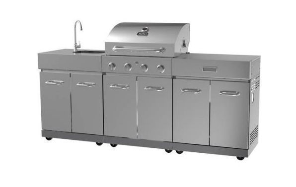 Outdoor Grill Island 4 Burner Gas