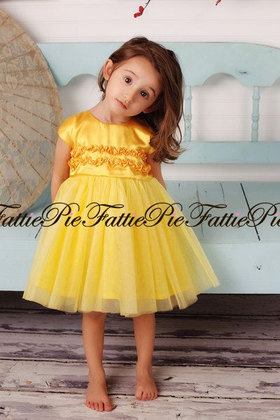 a6d9fb0356e Yellow Flower Girl Dress by fattiepie on Etsy