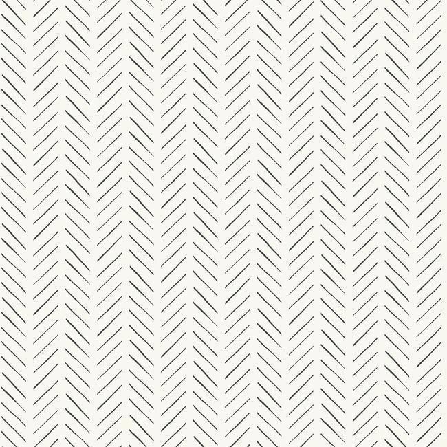 Pick Up Sticks Peel Stick Wallpaper In Black And White By Joanna Gai Joanna Gaines Wallpaper Herringbone Wallpaper Pattern Wallpaper