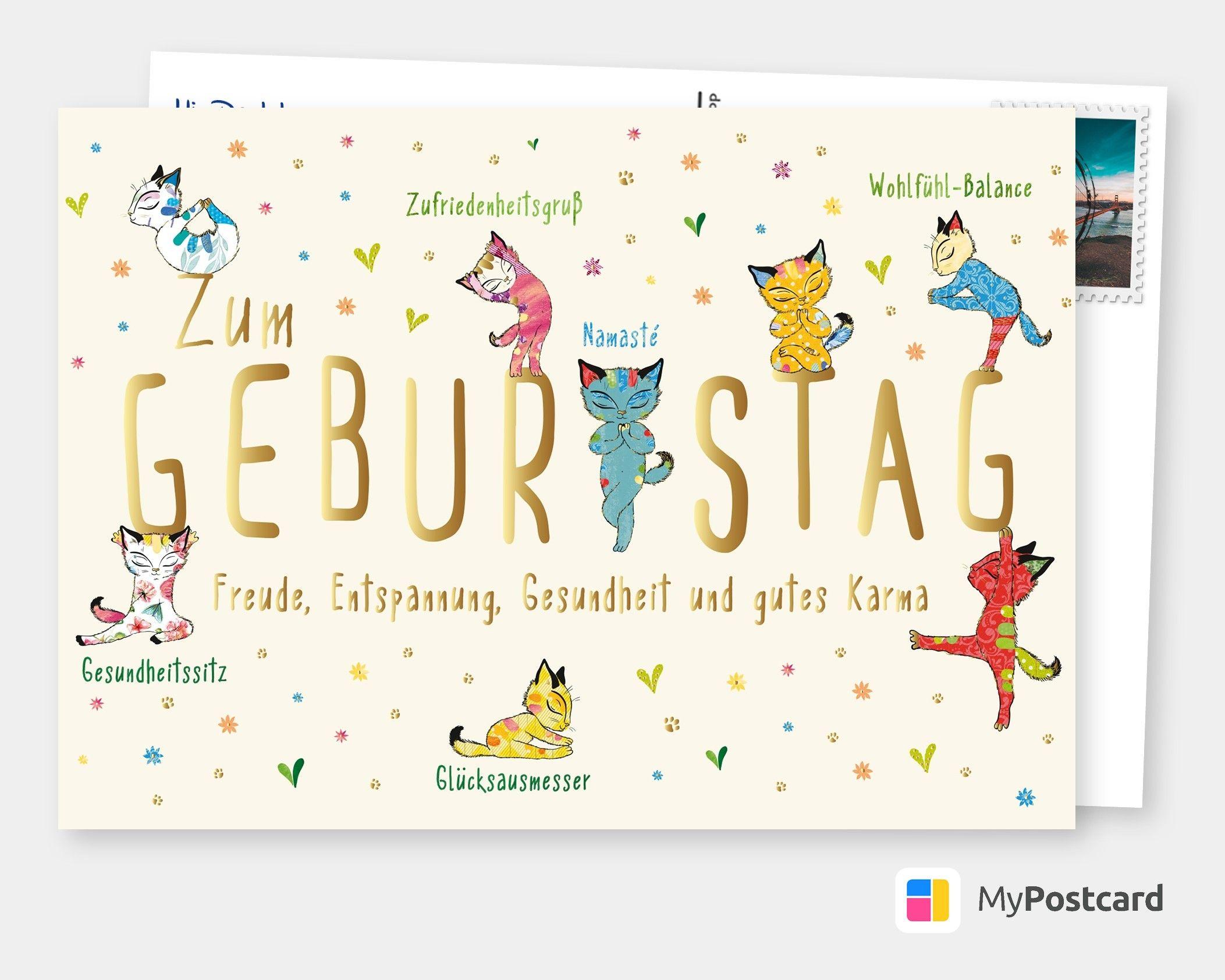 Karte zum Geburtstag - Geburtstagsgrüße / Geburtstagskarte / Geburtstagswünsche / Gratulieren