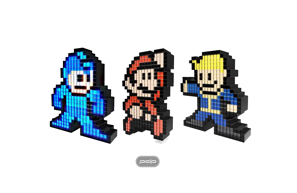 8-bit pixel art intersects with iconic video game characters in the initial release of Pixel Pals from Performance Designed Products (PDP).