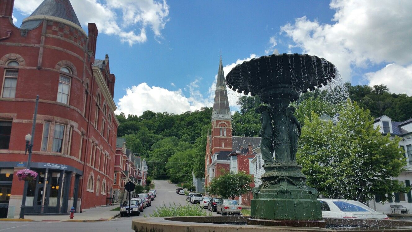 Downtown Maysville on the Ohio River taken June 2016