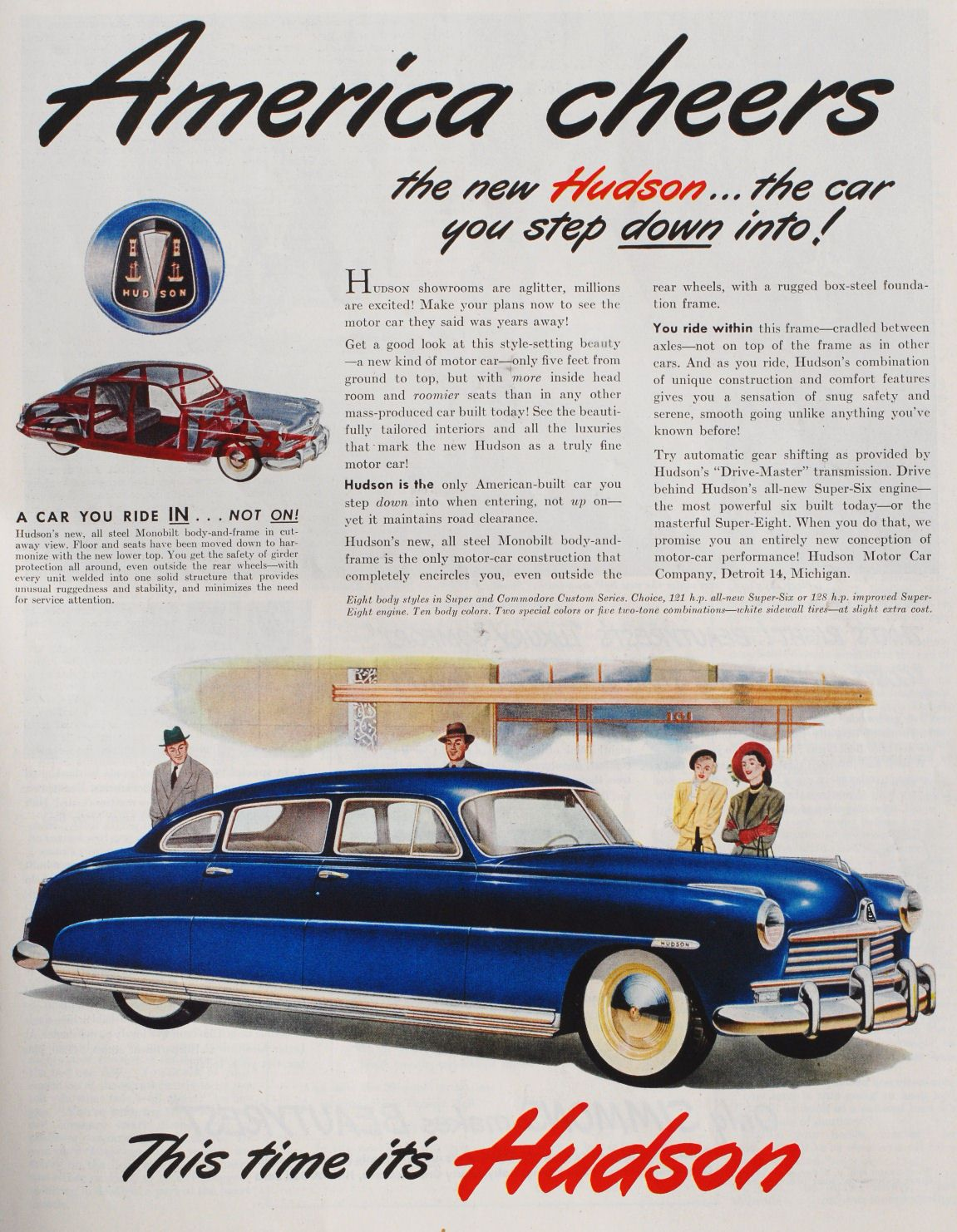 1948 Hudson Commodore Custom Sedan | Retro Car Ad\'s | Pinterest ...