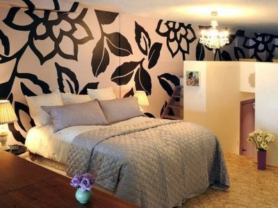 Bedroom Painting Designs Captivating Modern Bedroom Design With Wall Mural Decor  Wallpaper Mural Design Decoration