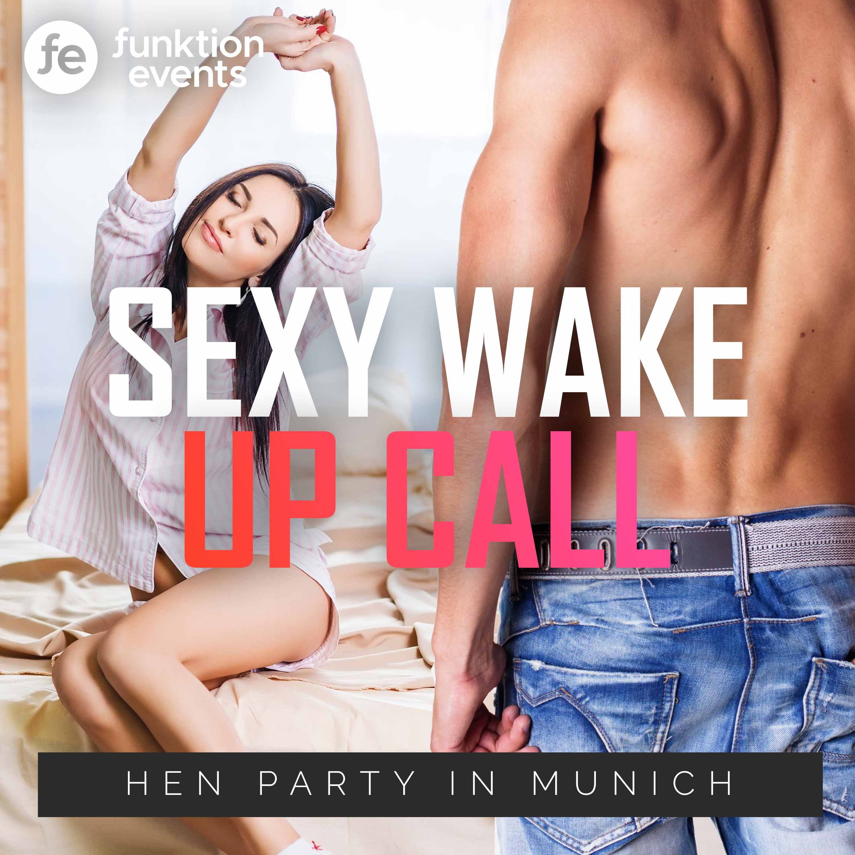 Add some excitement from the very beginning of the day with the sexy wake up call hen party in Munich, the perfect hen party activity to include for a very special soon to be wed hen! #hendoideas #henpartyactivities #henpartyideas #henpartyplanning #henpartyabroad #henpartyoverseas #henpartymunich #munich #stripper #malestripper #sexywakeupcall #munichhenparty #thingstodoinmunich