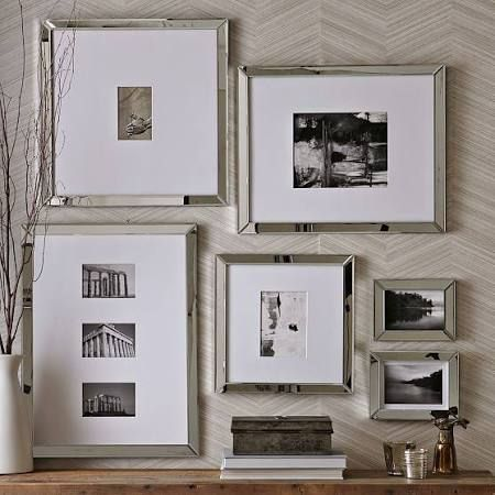 West Elm Gallery Frame, 16X20 (8X10), Mirror - Silver - Picture ...