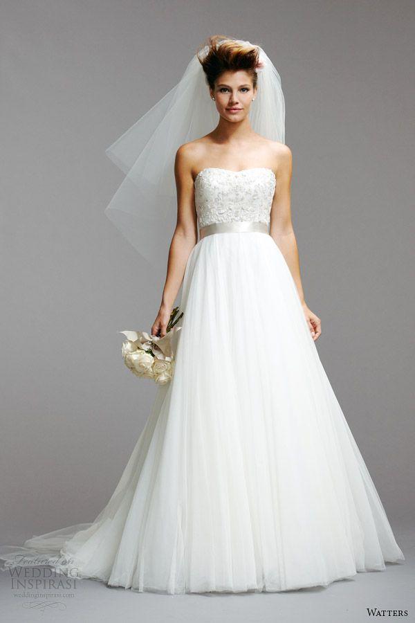 vestidos de novia de primavera 2014 de estilo vestido strapless watters 5073B