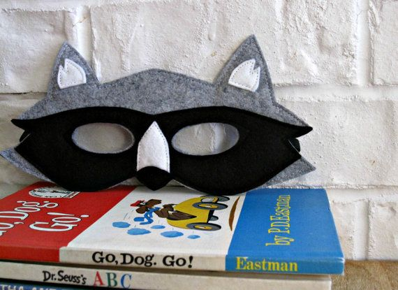 CHILD Felt Raccoon mask Halloween costume by littlebitdesignshop, $20.00