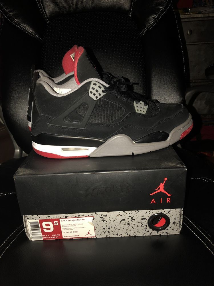 Jordan 4 bred size 9.5 #fashion