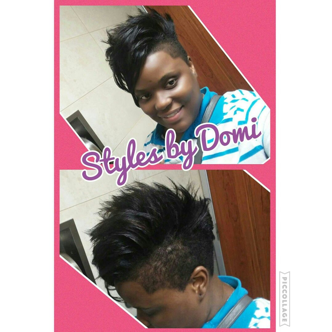 Stylesbydomi selfstyled hairstyle short pixiecut black hair