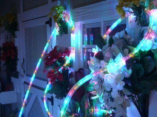 50ft Rope Lights Multi Color Led Rope Light Kit 1 0 Led Spacing