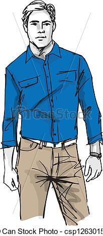 Vecteur Clipart De Croquis Mode Beau Homme Vecteur Illustration Csp12630151 Recherchez Des Images Graphiques Eps Vecto Beaux Mecs Mode Grunge Homme Mode