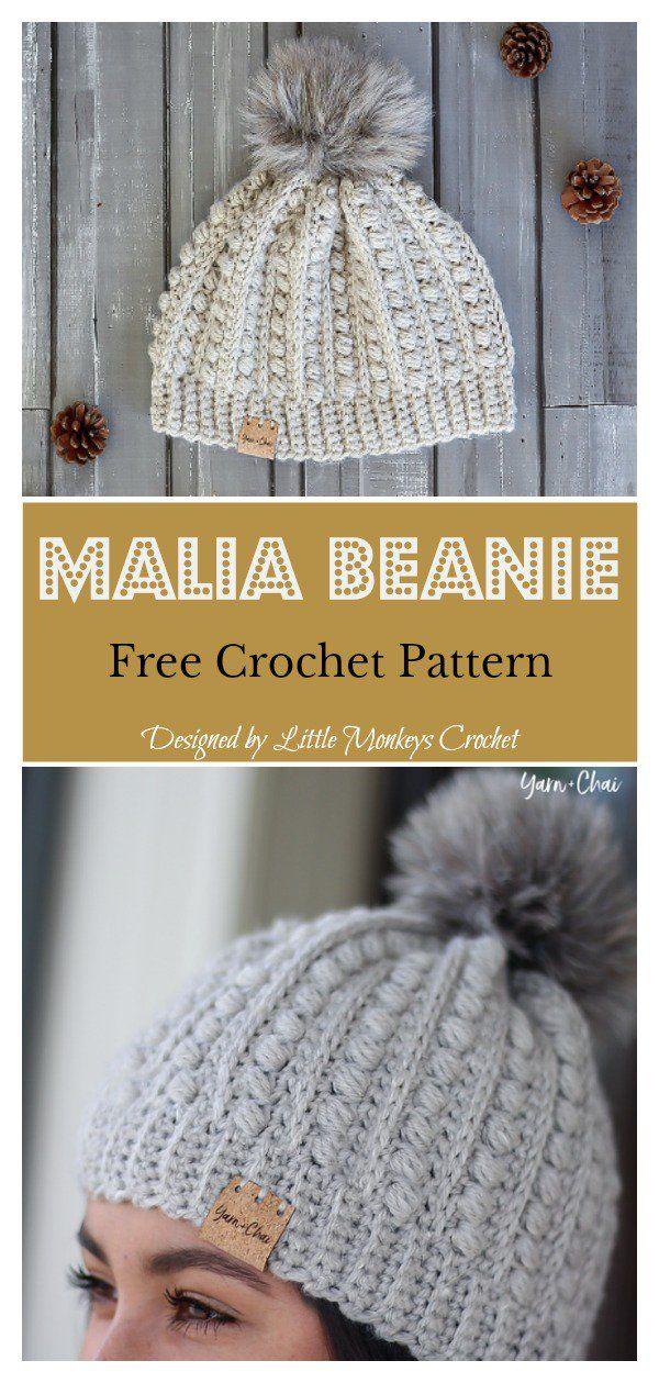 Malia Buttoned Cowl and Beanie Free Crochet Pattern | Stricken und ...