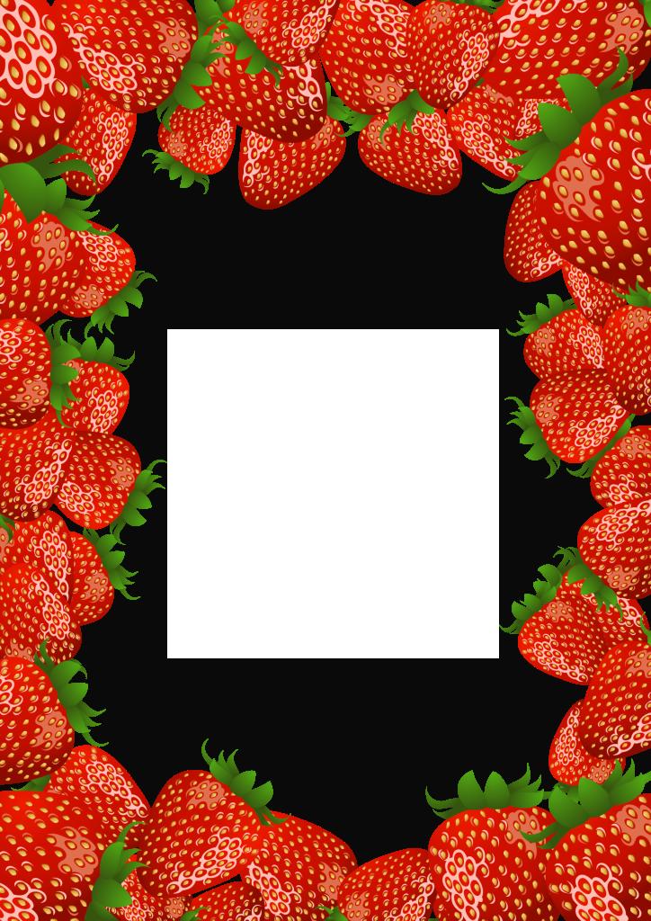 Transparent PNG Frame with Strawberries | Frames | Pinterest ...