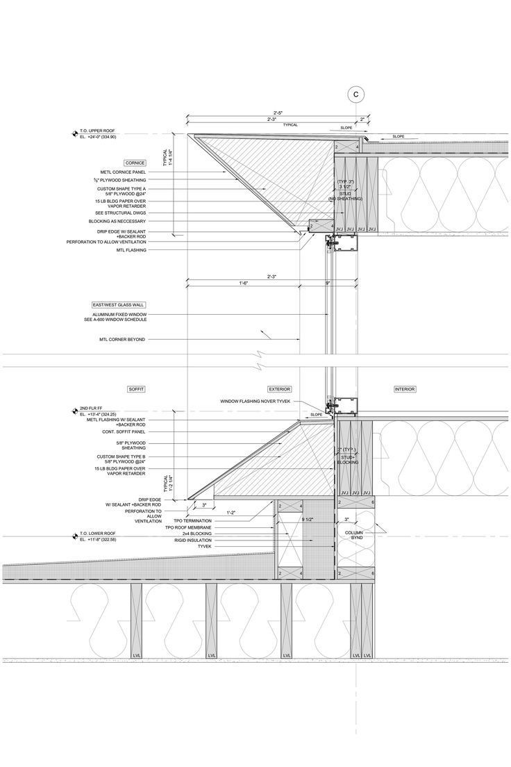 Window Section Architectuur Details Bouwkunde Architectuur