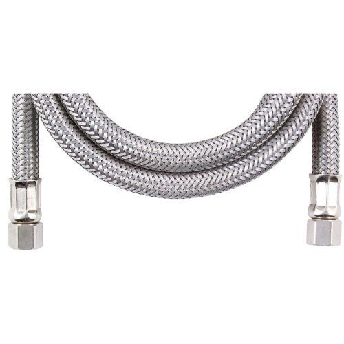 Loyal M65b Ice Maker Connector 5 Ft By None 17 98 Braided Stainless Steel 1 4 Comp X 1 4 Comp 5 Ft
