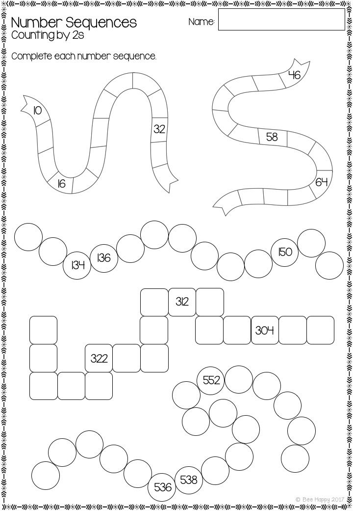Australian Curriculum Number Sequences Worksheets And Task Cards Year 2 Blends Worksheets Number Sequence Money Math Activities