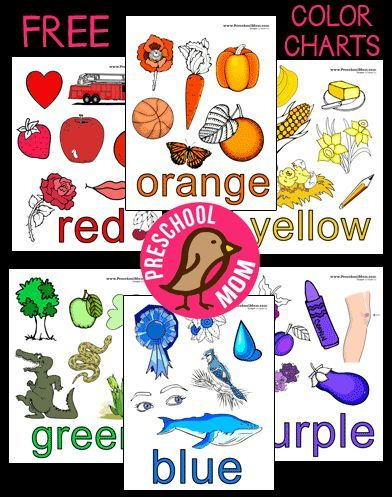 picture relating to Free Printable Color Chart identify Absolutely free Colour Chart Preschool Printables towards Preschool Mother