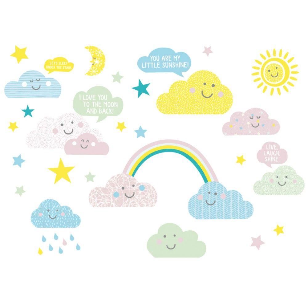 Wandsticker Wolken Hy Clouds Baby Kind Anna Wand