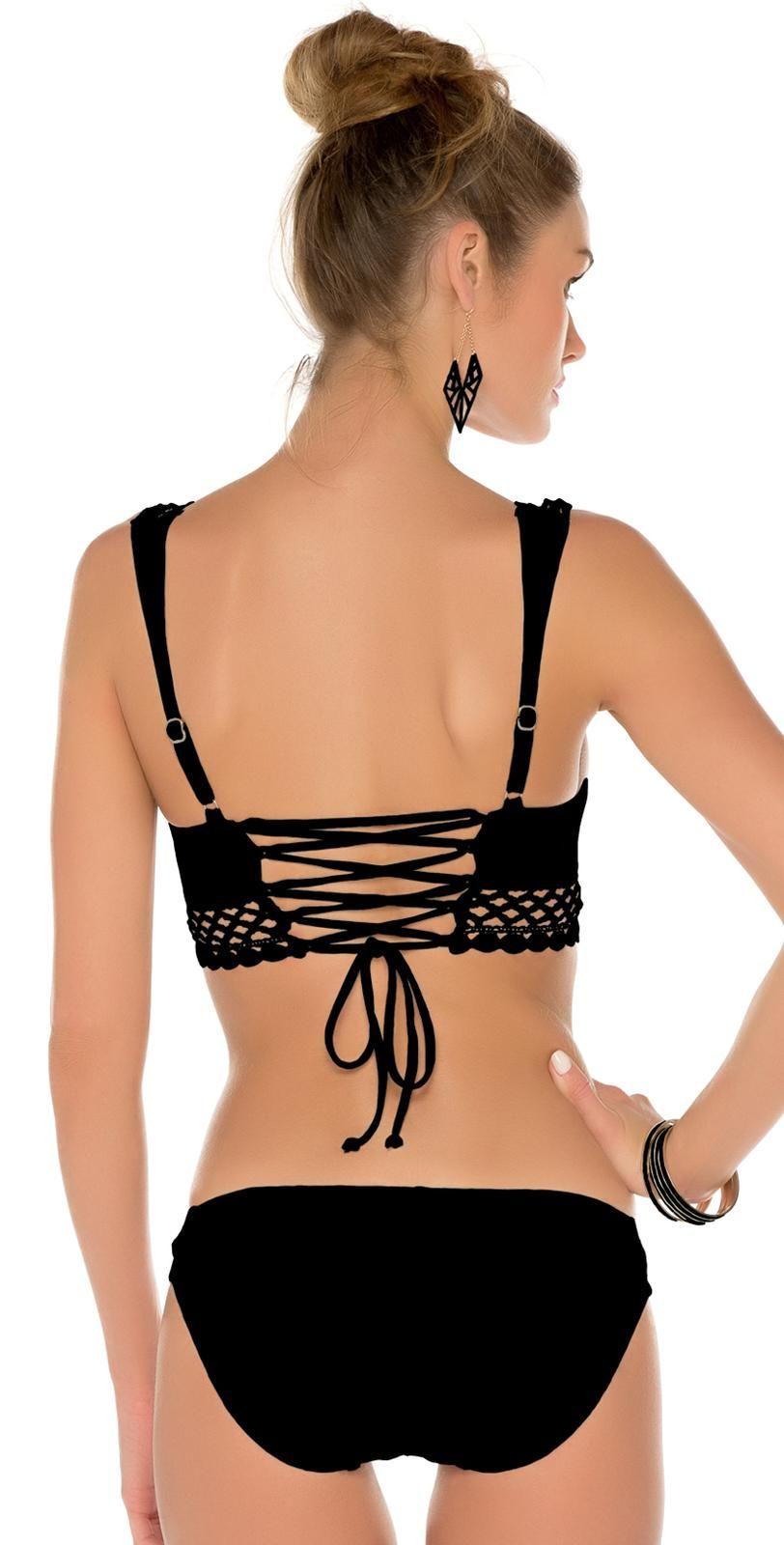1d049593a24d4 Becca 2015 It Girl Lace Up Bralette Bikini Bralette Bikini