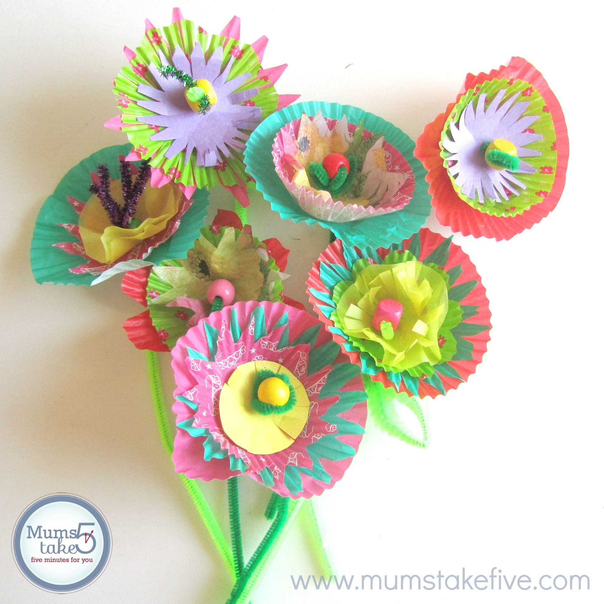 Craft Flowers For Kids Part - 37: Paper Flower Craft