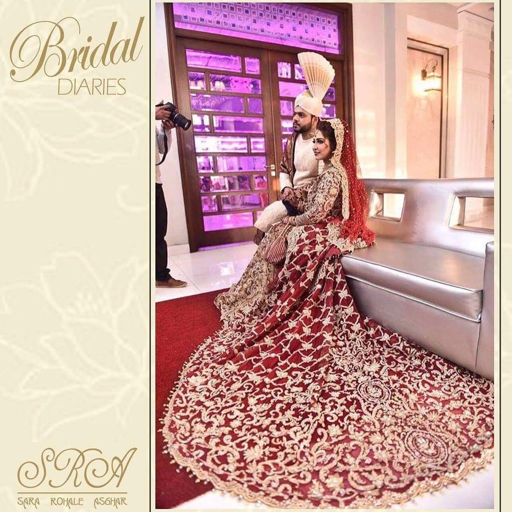 Happy brides are the prettiest  Call in to book you appointments now 0332-4340203 #clientdiaries #loveit #barat #gold #classic #SRA #bridaldiaries #red #bridaldiaries