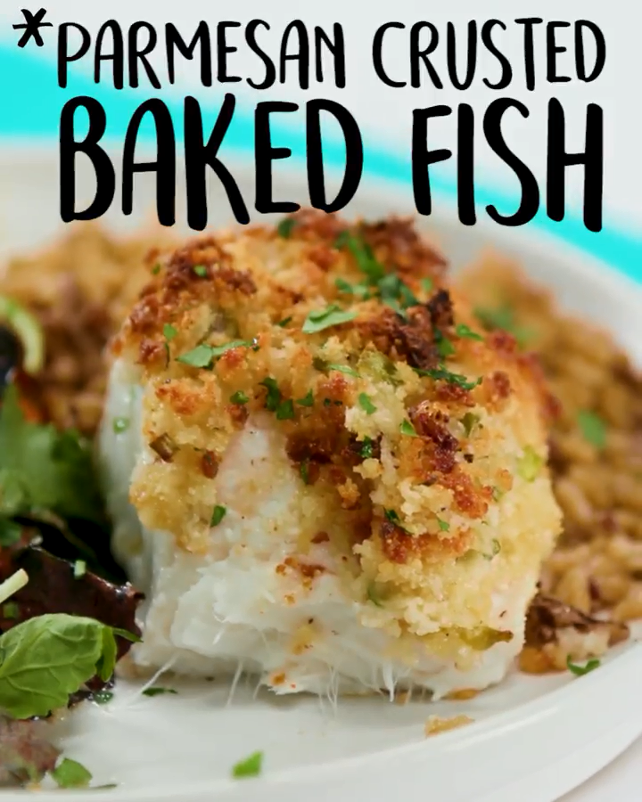 #Parmesan Crusted #baked #Fish #fishmeal