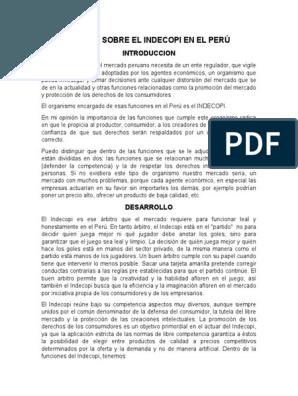 Ensayo Sobre El Indecopi En El Peru Pdf Libros Patronaje Anatomico