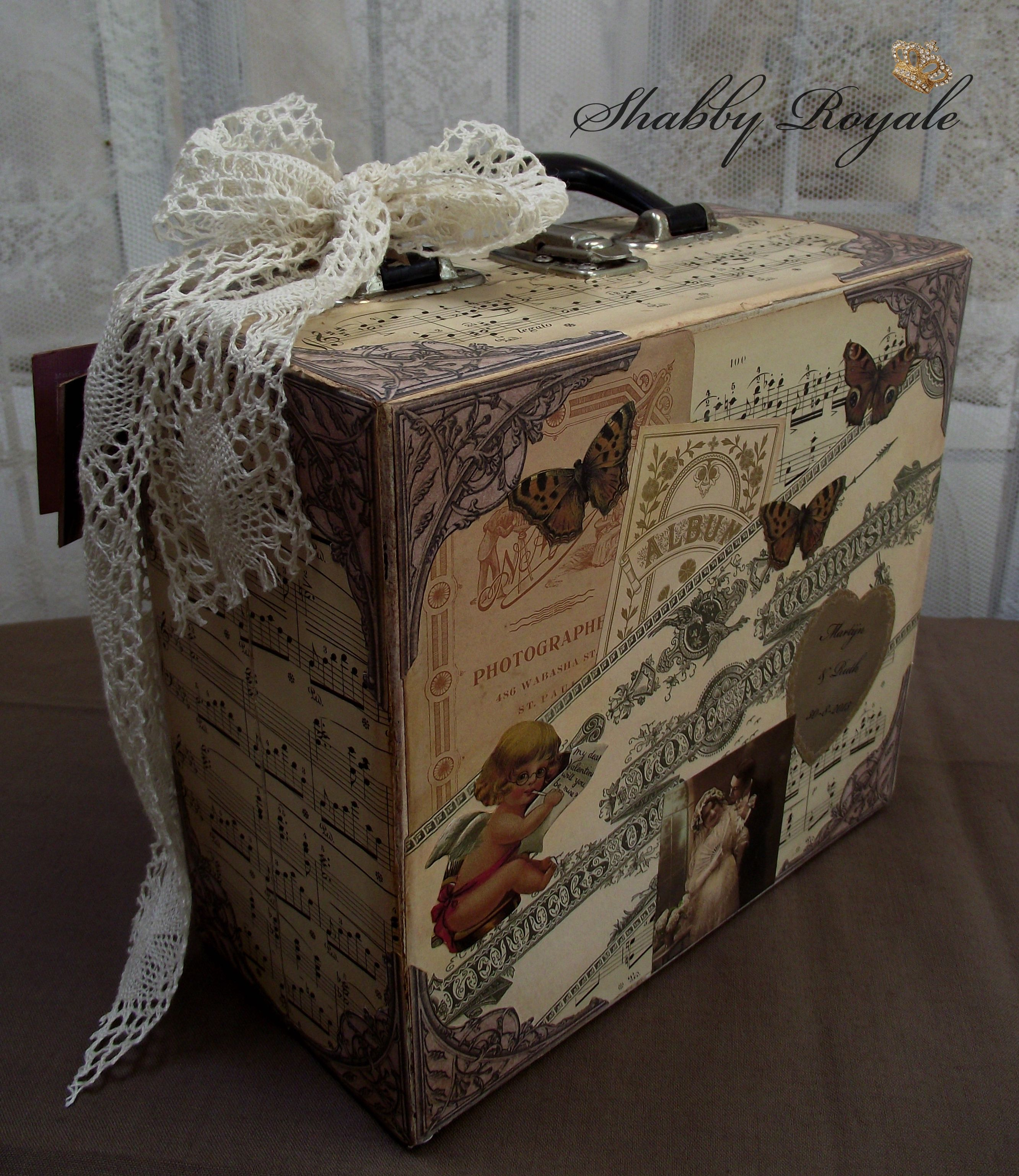 by shabby royale wedding gift valise en carton pinterest valises valise en carton et malle. Black Bedroom Furniture Sets. Home Design Ideas