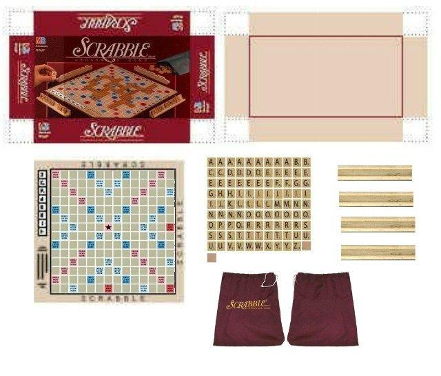 Scrabble Board Game #miniaturetoys